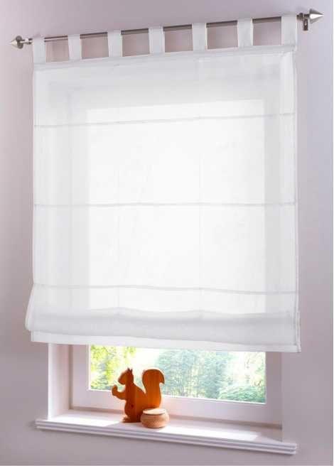 Jetzt anschauen: Transparenter Sichtschutz in neuer Form, dieses Faltrollo in Voilequalität legt sich in dekorative Falten beim Hochziehen, mit Hilfe…