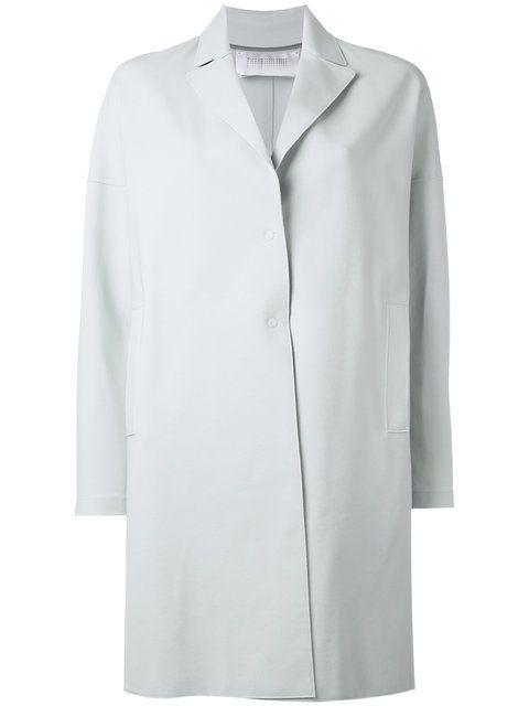 HARRIS WHARF LONDON Single Breasted Coat. #harriswharflondon #cloth #coat