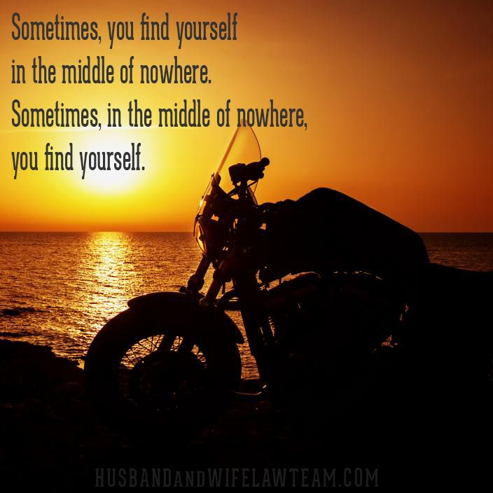 Sometimes In The Middle Of Nowhere You Find Yourself Its About