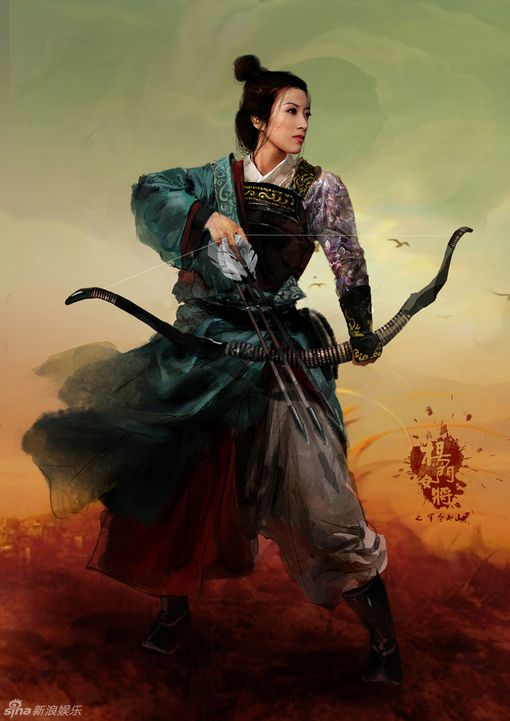 Asian fantasy art women warriors very
