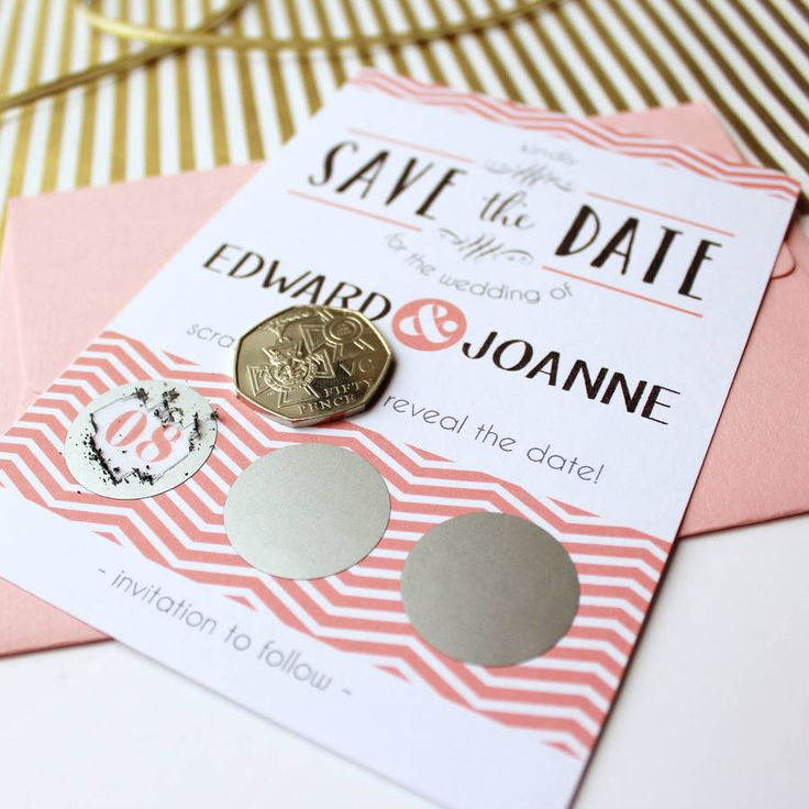 Scratch Off Wedding Save The Date Cards                                                                                                                                                                                 More