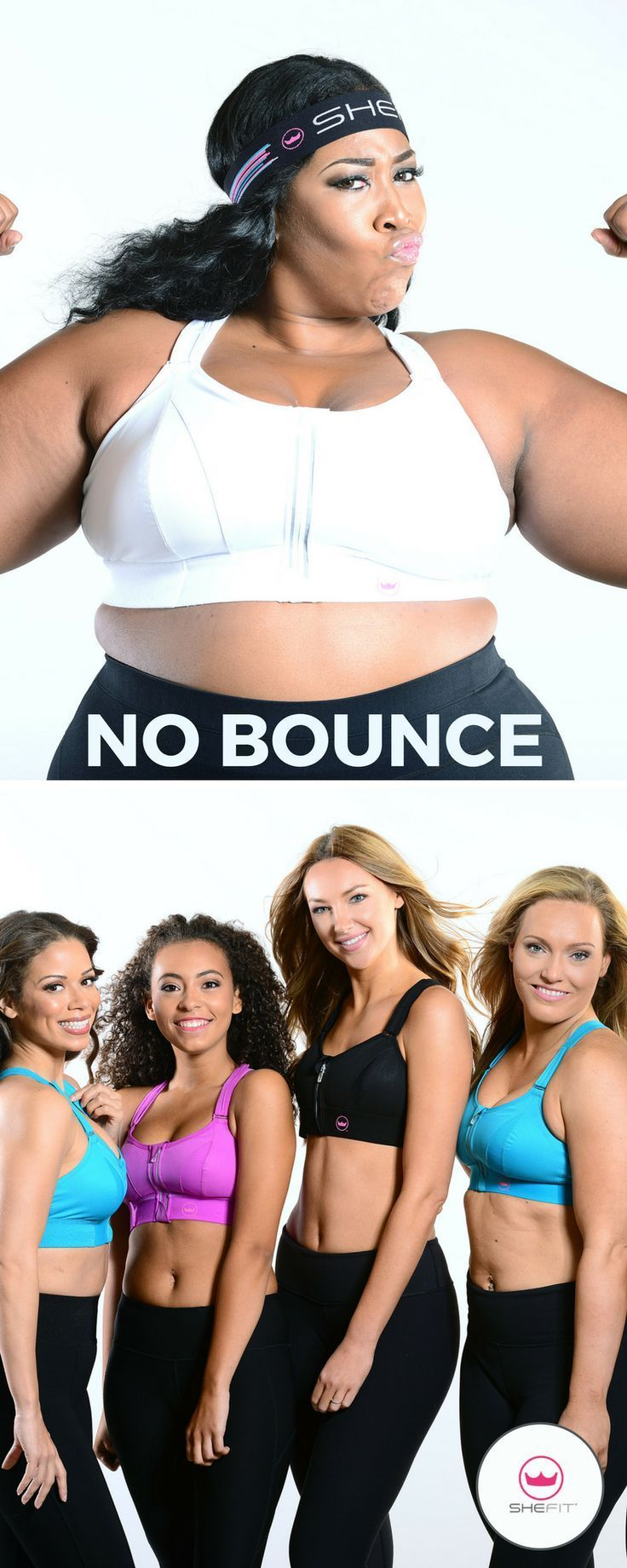 The Shefit Ultimate Sports Bra is for all women regardless of age, athletic level, or breast size. Our goal is to provide girls with the most important piece of activewear – so important you put it on before your shoes! Great for all your cardio workouts, yoga, pilates, dance, and running. | Best Curvy Fitness Clothes | Affordable Workout Gear | Fitness Outfits for Women | Athletic Wear for Running Ideas | Sports Products for Big Busts | Yoga Fashion | Cool Nursing Bras