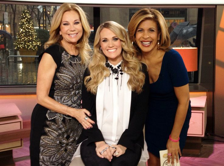 Carrie Underwood and Kathie Lee Gifford and Hoda Kotb