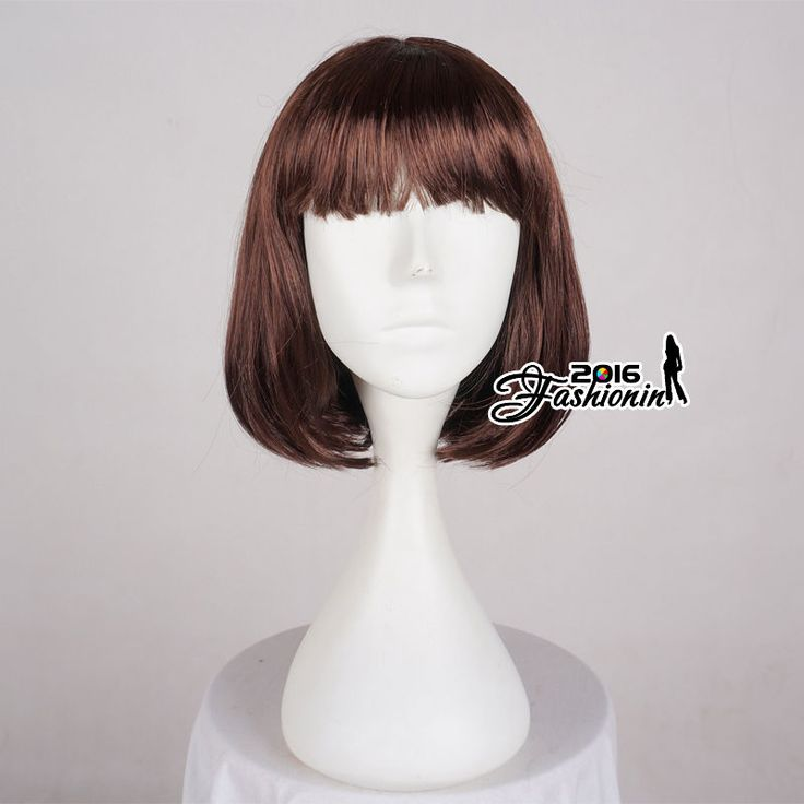 BOBO Style New Brown Straight 30cm Short Anime Hair Cosplay Full Party Wig