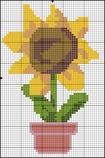 Sunflower hama perler beads pattern