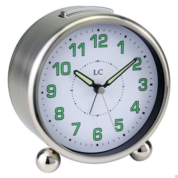 Traditional round #metal alarm/bedside #clock #luminous hands. london #clock co.,  View more on the LINK: http://www.zeppy.io/product/gb/2/121846699543/