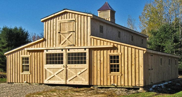 Horse barns modular 36x48 with cupola in vermont for Monitor style barn plans