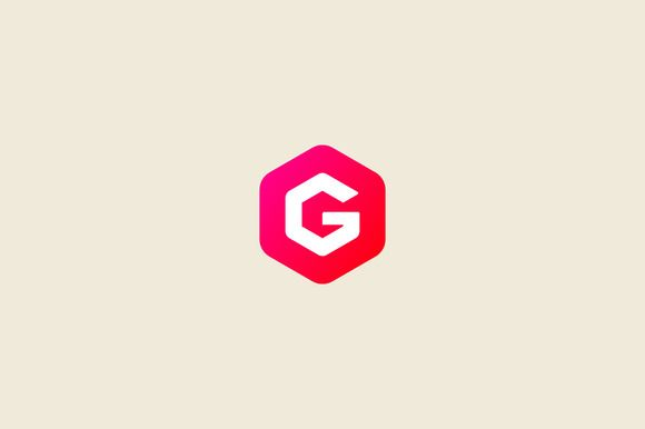 Abstract letter G hexagon logo by iamguru on Creative Market