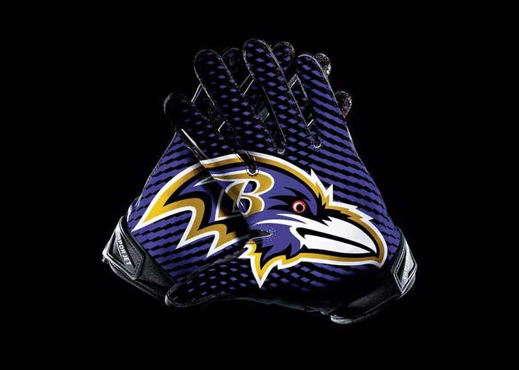 Men's Nike NFL Baltimore Ravens Vapor jet 2.0 Gloves