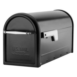 Architectural Mailboxes Chadwick Nickel Accents Black Post Mount Mailbox 8950B-10 at The Home Depot - Mobile