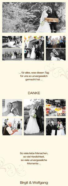 Aussergewöhnlich Danke sagen - mit Leporello Foto Dankeskarte--Hochzeitseinladungen.de