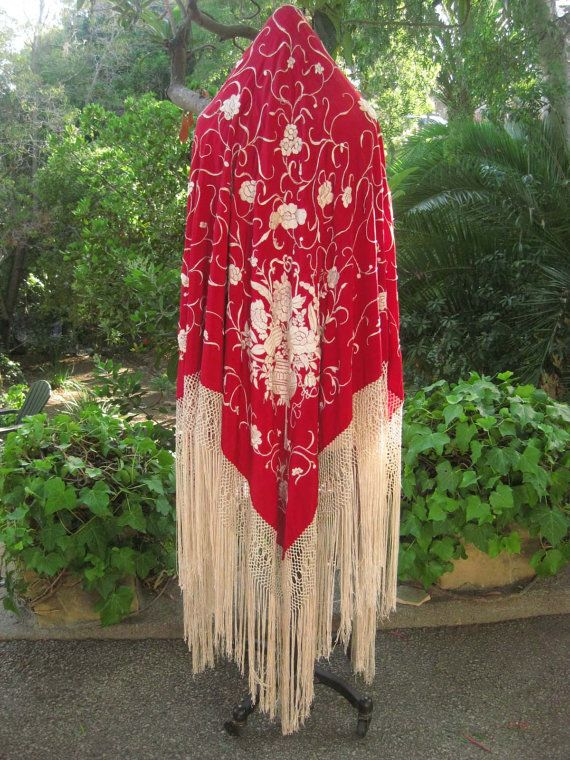 Antique Canton Chinese Lantern Silk by KatalinaTextiles on Etsy