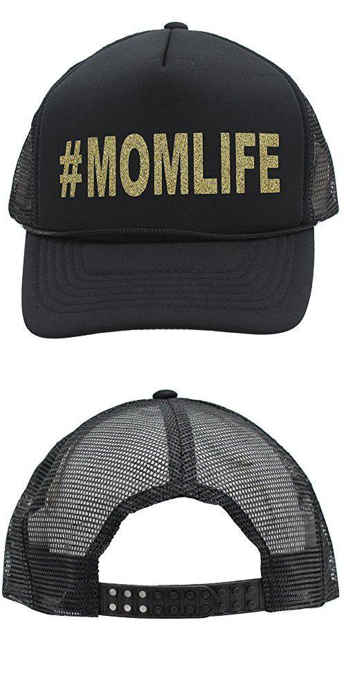 Gold Glitter  MOMLIFE   MOMLIFE Mom Life Women Glittering Trucker Style Cap  Hat ff598667a802