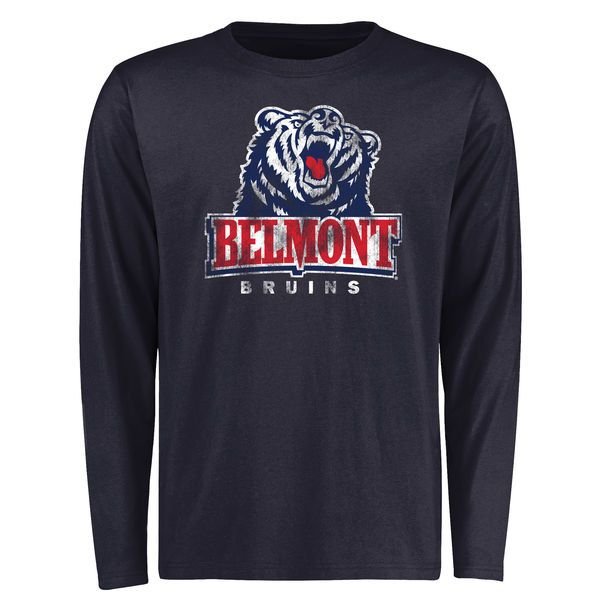 Belmont Bruins Big & Tall Classic Primary Long Sleeve T-Shirt - Navy - $29.99