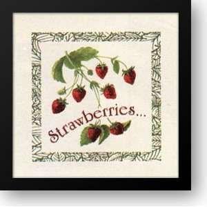 Strawberries 13x13 Framed Art Print by Eriksen, Gloria Home & Kitchen