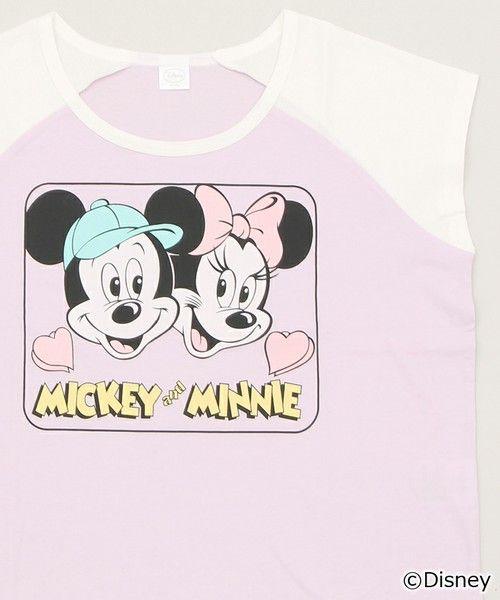 WEGO LADY'S(ウィゴーレディース)の∴WEGO/DisneyショートラグランTシャツ(Tシャツ/カットソー)|ライトパープル