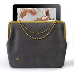"""Inspired by the older generation granny wallets, the Duchess 9"""" iPad Case Blue brings together the vintage and modern looks."""
