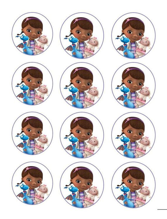 Doctor McStuffins comestible Cupcake Toppers por DolceCakeToppers