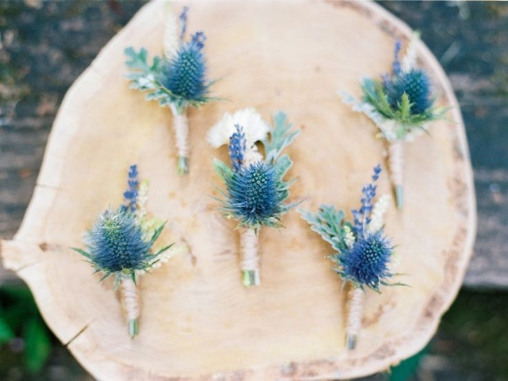 #Boutonnieres | Photography: Birgit Hart | See the wedding on http://www.StyleMePretty.com/2013/08/23/german-wedding-from-birgit-hart/
