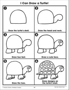 Draw a Turtle: Following Directions (Practice Page)