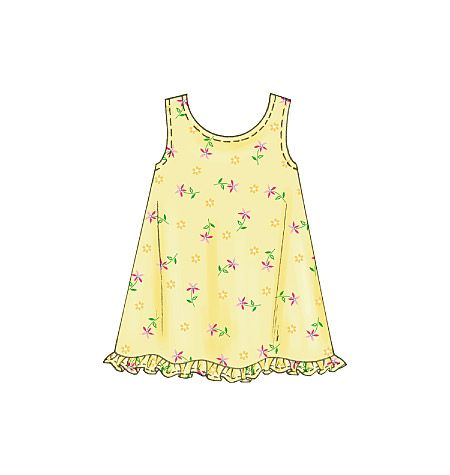 M4006, Children's & Girls' Dresses, Top & Pants - setting aside time to sew again for Granddaughter.