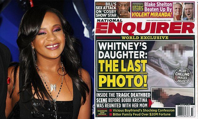 Bobbi Kristina's DEATHBED photo taken at Georgia hospice on National Enquirer cover | Daily Mail Online