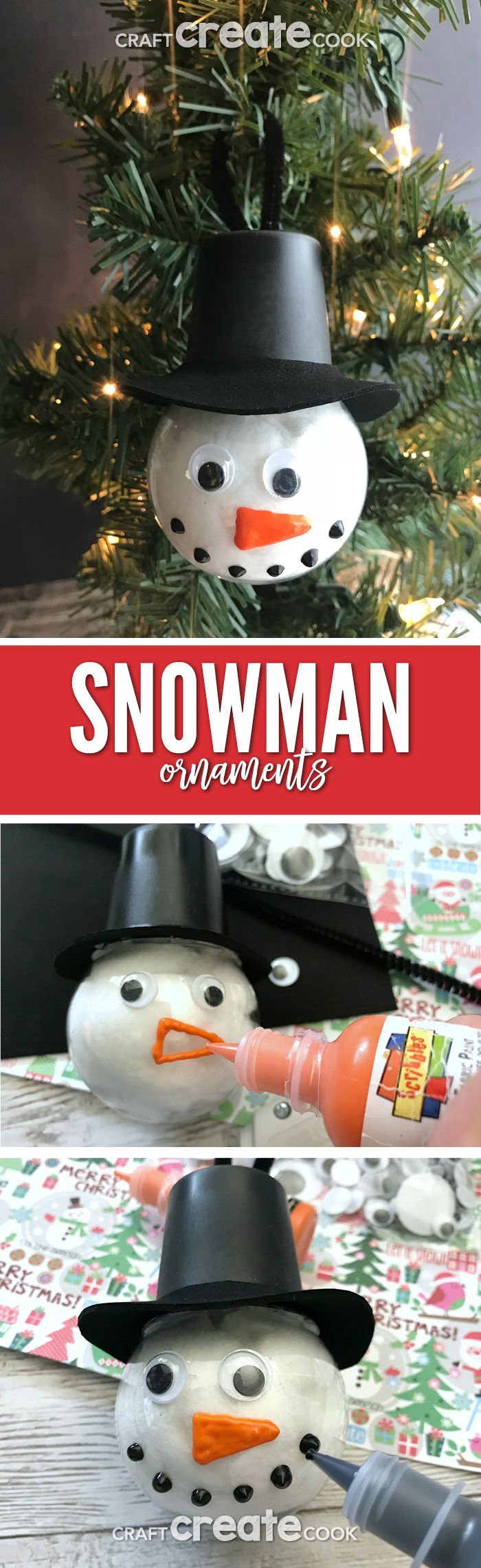Snowman Ornament Craft 23 best DIY Christmas
