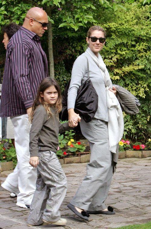 Celine & Rene-Charles Take A Walk Together   Celebrity Baby Scoop