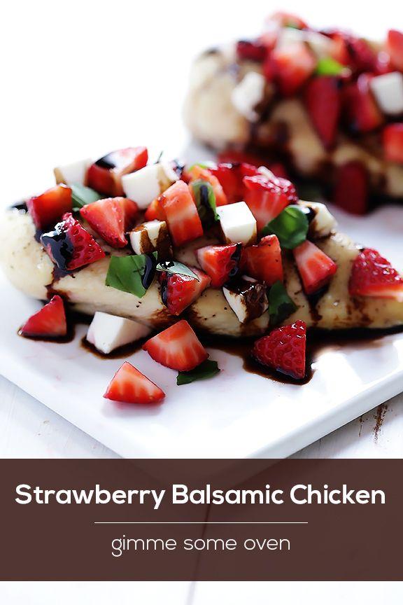 Aardbei balsamico Recept van de Kip | gimmesomeoven.com
