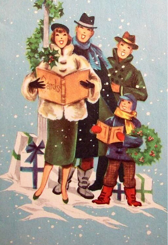 253 best Carolers images on Pinterest | Vintage christmas cards ...