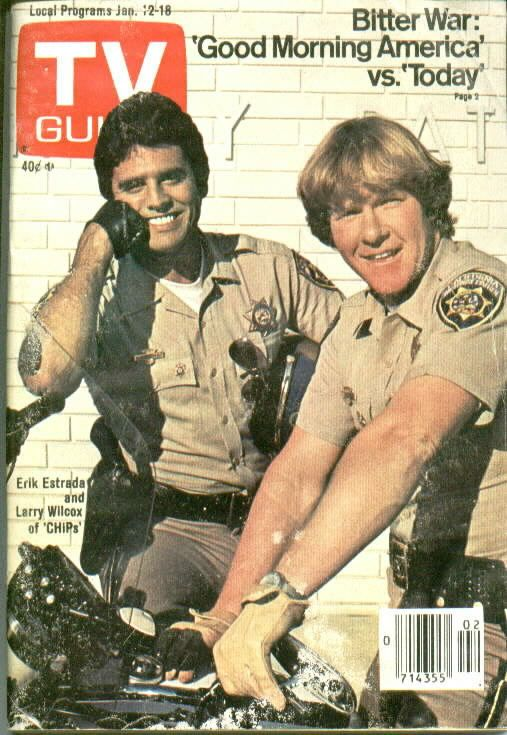 CHiPs - TV Guide cover with Estrada and Wilcox