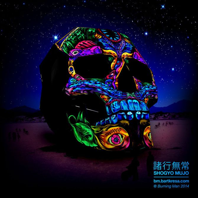 A 30-Foot Skull Will Ignite Burning Man In A Blaze Of Projection Mapped Glory   The Creators Project