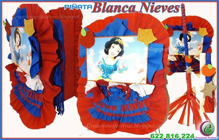 Piñata princesa Blanca Nieves.  Visita nuestra boutique donde podrás encargar tu piñata elaborada a la medida. Enviamos a todas partes de Europa.