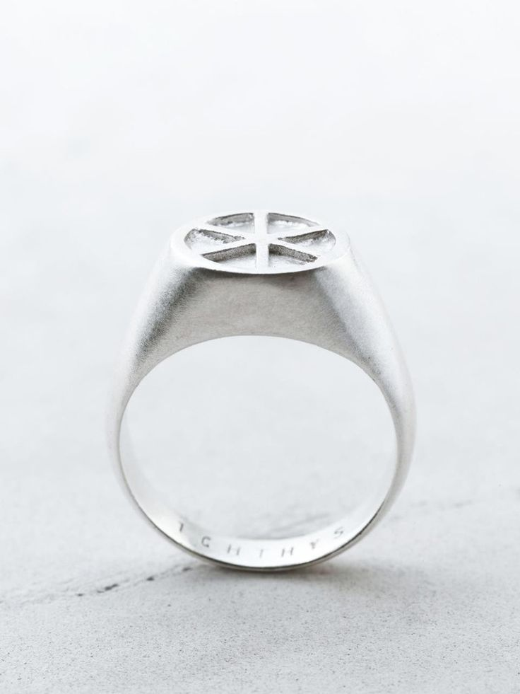 ICHTHYS`Signet Ring Power, strength Unleashed, you are a polished gem For you, aren't merely a name.