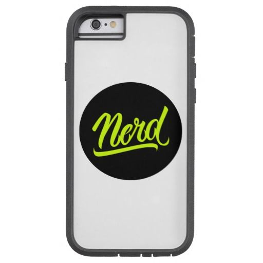 Nerd iPhone Case Tough Xtreme #Nerd #lettering #LetterHype