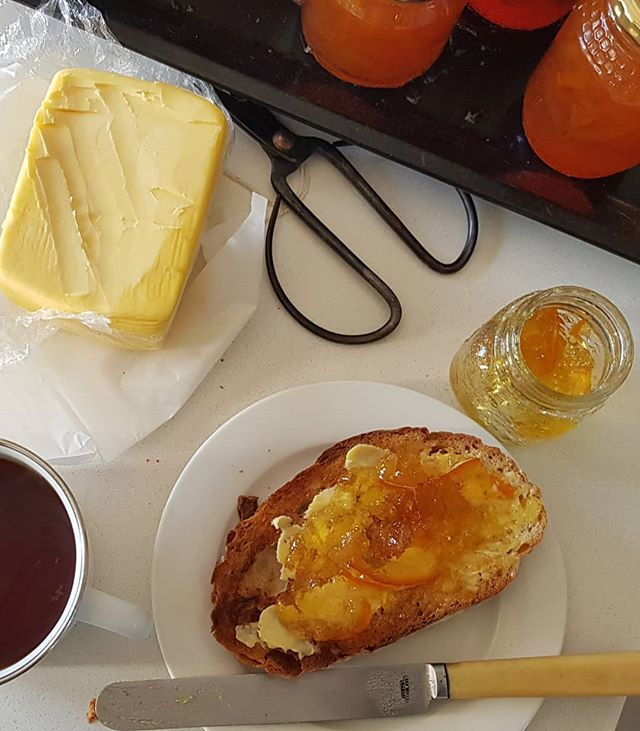This Is What It S All About Toast Home Made Marmalade A Cup Of Rooibos Food Homemade Toast