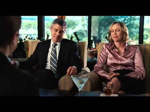 """Scene from the movie """"Up In The Air"""". Anna Kendrick gets dumped by text-message and gets advice on love by George Clooney and Vera Farmiga. quotes: NATALIE W..."""