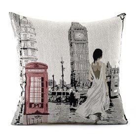 Povlak na polštářek Gobelín žena v Londýně, 45 x 45 cm