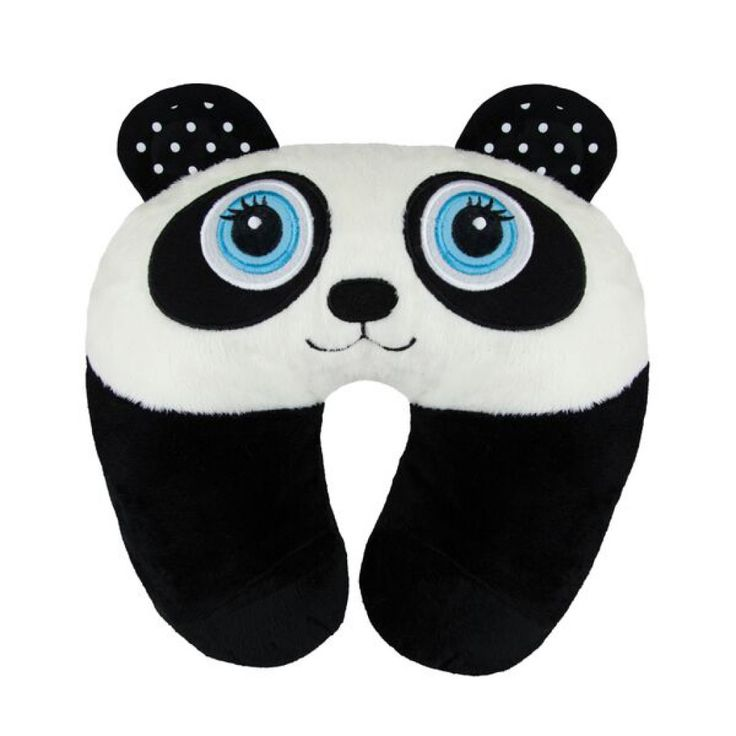panda travel pillow is great for kids to be comfy on journeys
