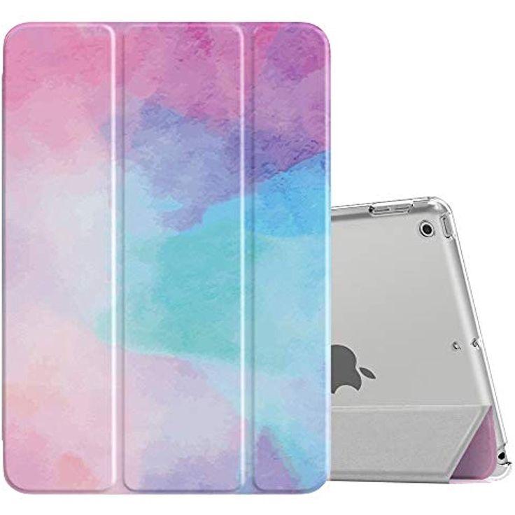 MoKo Hülle für Neu iPad 10.2 2019 PU Leder Tasche Schutzhülle mit Transluzent…
