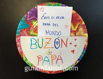 Buzón para papá. Manualidad para el Día del Padre