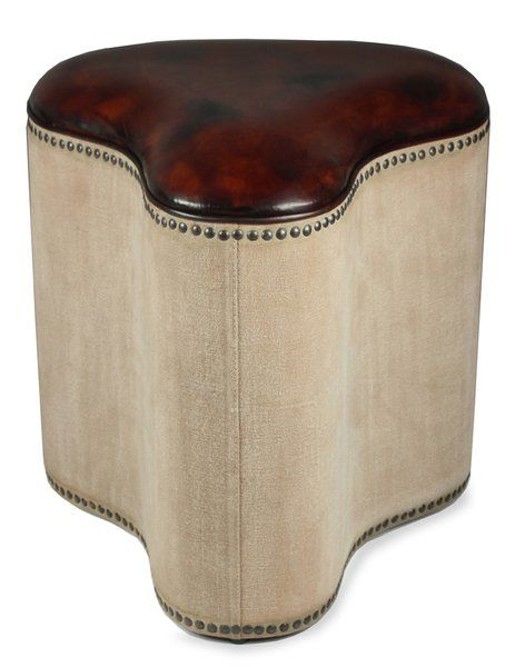 #Ottoman #Stool Bicycle Style Leather Canvas #Handmade #New Free shipping