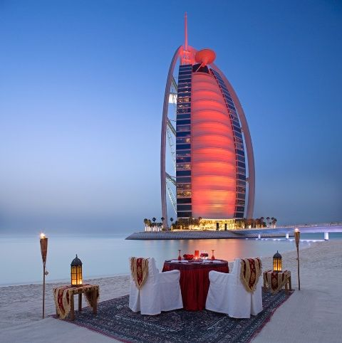#DubaiFacts: Dubbed 'The world's first 7-star hotel', this iconic structure of Burj Al Arab is arguably more famous and recognizable than its taller downtown rival the Khalifa. It is the fourth highest hotel in the world and is only linked to the mainland via one private bridge.  #DidYouKnow #InterestingFact #Dubai #BurjAlArab #Hotel