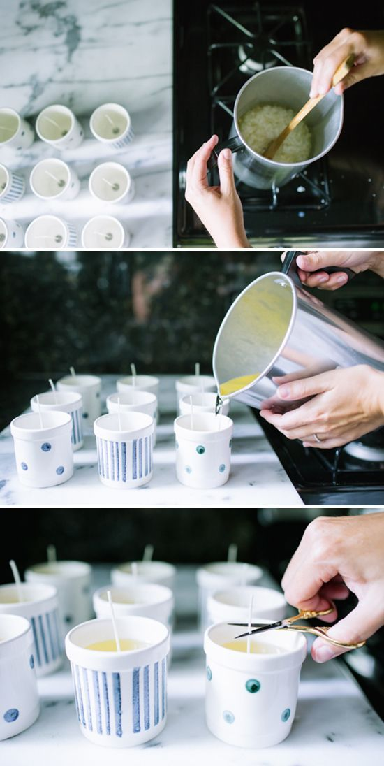 DIY: scented soy candles. http://obus.com.au/