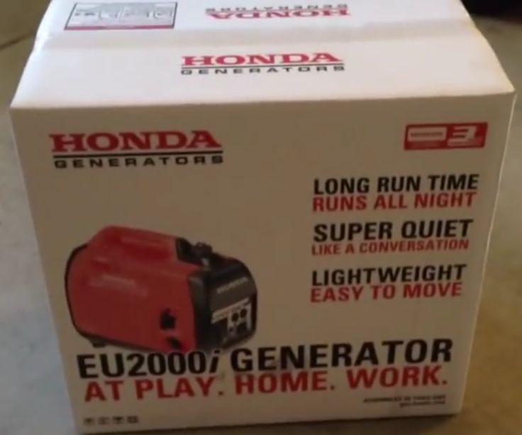 Honda EU2000i Super Quiet Gasoline Portable Inverter Generator 2000 Watt