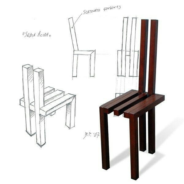 Sedia Acida #sedia #ferro acidato #chair #brunopetronzi.it