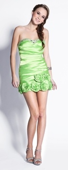 Lime Green Prom Dresses Lime Green Cocktail Gown Short Bridesmaid