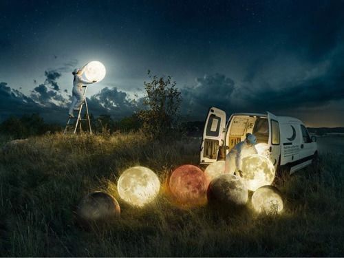 Full Moon Service by Hasselblad Ambassador Erik Johansson (@erik.joh)  This is a photo Ive been working on from now and then for the past 8 months. Shot in the late summer of 2016 a beautiful calm evening in the middle of Sweden outside of Götene. I brought out 7 rice lamps 7 light bulbs an electric generator a car and two models out in a field. The main part that has been retouched in this photo is to replace the rice ball with a moon texture the light and the mood was very close to what…