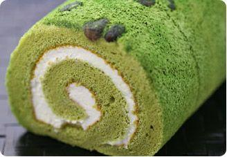 Grean Tea roll cake