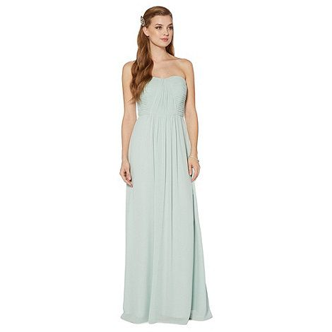 Debut Light green ruched bodice maxi dress- at Debenhams Mobile